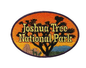 Joshua Tree National Park Patch Travel Badge Cali Embroidered Iron On Applique