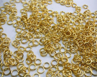 Gold Jump Rings Saw Cut 4mm Diameter (Quantity of 300) RING003