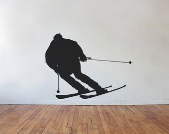 Downhill Skiing Vinyl Wall Decal