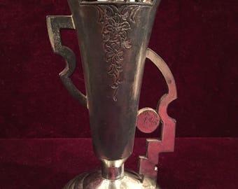 Art Deco/Nouveau Vase Antique Metal Japanese