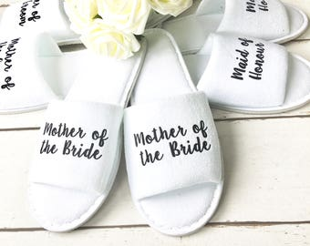 Bridesmaid Slippers | Wedding Slippers | Spa Slippers | Bridal Party Slippers | Hen Party Slippers |Personalised Slippers | Wedding Slippers