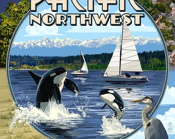Pacific Northwest - Montage (Art Prints available in multiple sizes)