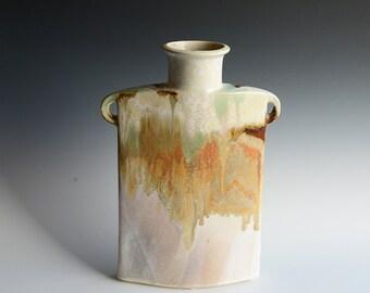 Porcelain vase handshaped