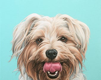 Custom Painting of Your Pet, 18x24 Yorkshire Terrier Portrait, Yorkie Painting, Gift for Yorkie Lover, Hand Painted Portrait of Your Dog