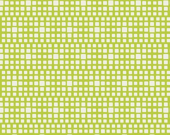 Squared Elements Lime Green by Pat Bravo for Art Gallery Fabrics