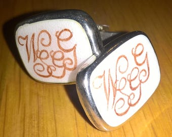 Monogrammed Hallmarked Vintage Silver Cufflinks by WW. Griffith and Son