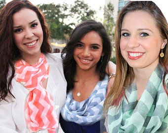Infinity Scarves: Chevron Collection