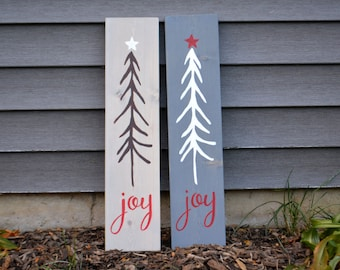 Joy Tree Rustic Wood Sign