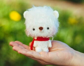 Amigurumi softie toy, stuffed animal plushie, miniature blythe pet - Lupo -  Made to order