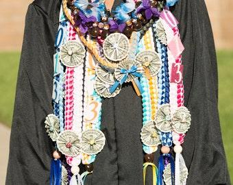Graduation Money Lei, Custom Ribbon Lei, Braided Stole, Double Braid Money Lei, Graduation Necklace, Birthdays, Custom Order