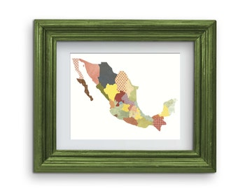 Mexico Map Collage Print {Digital}