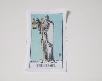 The Hermit - L'Hermite - El Ermitaño - Rider-Waite Tarot Card Sew On Patch