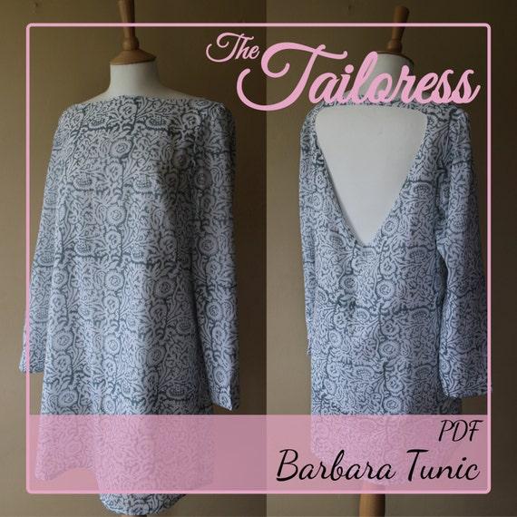 Barbara Tunika Kleid PDF Muster Tunika Pdf Muster Kleid Nähen