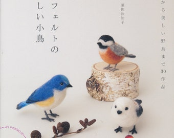 Needle Wool Felt Birds  Japanese Craft Book