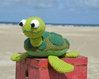 Amigurumi Turtle Pattern : Amigurumi sea turtle crochet pattern pdf instant download