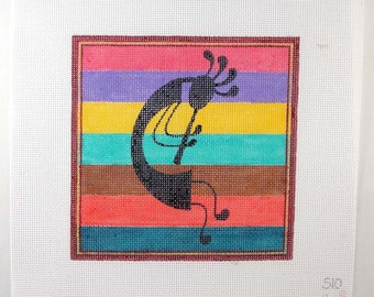Kokopelli 7 x 7 Needlepoint Square   - Jody Designs  S10