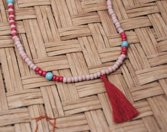 Pink Tassel Neckless