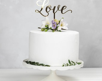 Love Cake Topper - Wedding Anniversary