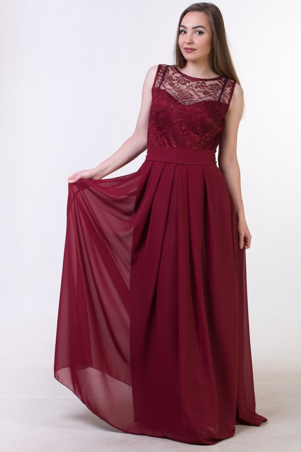 Red wine bridesmaid dress burgundy red bridesmaid dress red zoom ombrellifo Choice Image