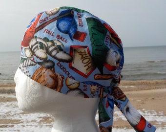 Boy Summer Hat -Sun Hat-Cotton fabric Hat-Pirate boy bandanna-Boy head scarf - bandanna-Skull Cap-Biker-Head Wrap-sun hats-visors