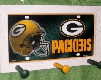 Green Bay Packers License Plate Peg Hanger