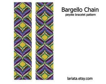 Bargello Chain - Peyote Bracelet Pattern - INSTANT DOWNLOAD