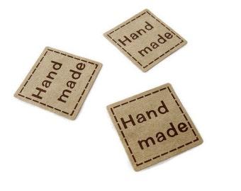 1 inch square sticker label handmade - 32pcs (XS101)