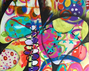 Abstract Butterfly Original Acrylic Painting