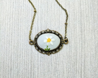 Vintage Embroidered Necklace