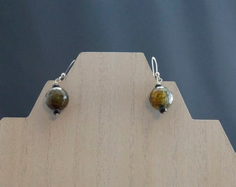 Agate and Onyx Earrings