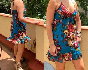 Cotton Dress with print strap