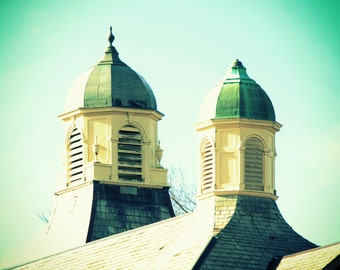 Photo Print - Double Cupolas, Yellow and Green Architecture circa 1889
