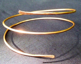 Upper Arm Cuff Bracelet Tribal Bangle Armlet UpCyCleD Copper Wire Womens Fashion Bestseller Spiral Arm Band