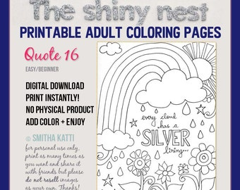 Printable Coloring Pages Quotes Adult Colouring Quote Easy Page 16