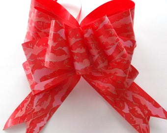 5 knots pull paper 5x115cm REF - printed red color. 38R