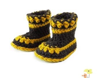 Crochet Baby Booties Pattern | Trisha Baby Booties | Sizes Newborn - 12 Months