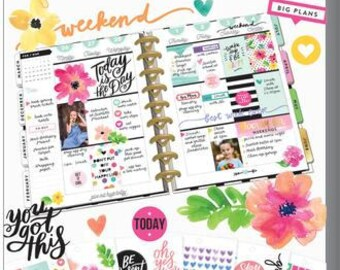Teddy Bears MAMBI Happy Planner Stickers Monthly kit Pastel Color Planner  Stickers Day Designer Planner Monthly