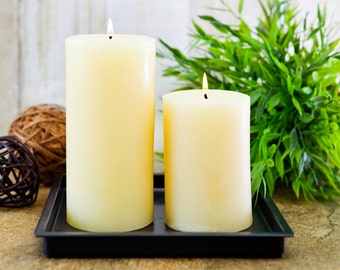 "100% Natural Beeswax Pillar Candle 6"" - Scented or Unscented"