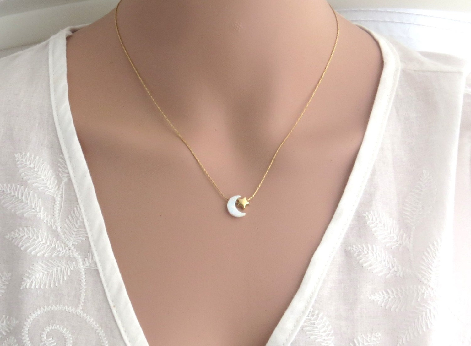 jewelry vintage gold metallic star necklace in tiny madewell lyst
