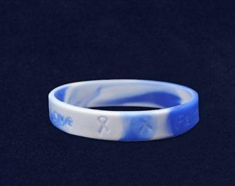 Blue & White Silicone Bracelet (RE-SILB-25)