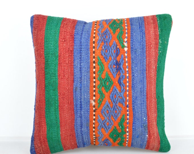Kilim pillow, Kilim Pillow Cover, Turkish Pillow, Kilim Cushions, Moroccan Pillow,  Bohemian Pillow, Turkish Kilim, KP34 (tp500)