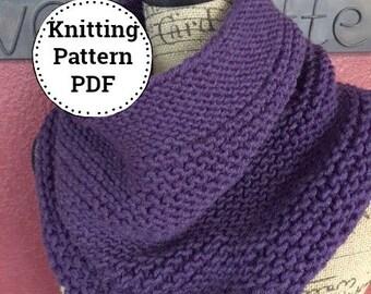 Knitting PATTERN - Knit Cowl Pattern - Cowl Knitting Pattern - Scarf Pattern - Easy Knitting Pattern - Knitting Patterns