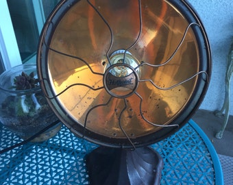 Vintage copper space heater lamp