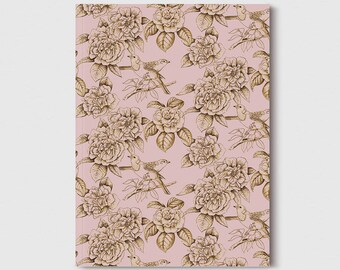 Notebook A5 by Laura Agusti-flowers and birds-