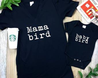 Mama Bird Shirt | Baby Bird Onesie or Shirt | Mommy and Me Set