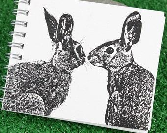 Mini Journal - Pair of Hares