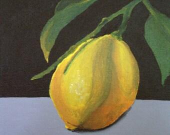 Painting Lemon / Nice kitchen decoration / Still life / Wall decoration