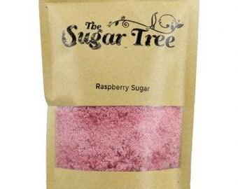 Raspberry Sugar  - Naturally Flavoured Raspberry Sugar - Raspberry Sugar - Flavoured Sugar  - Gourmet Sugar