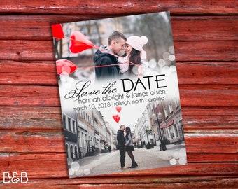 Classic Multi-Photo Save the Date Postcard