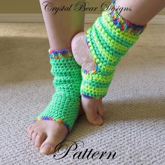 Crochet Yoga Socks Pattern Tutorial Ladies Teen Child All